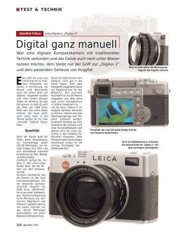 """Leica """"Digilux 2"""" - Tauchen"""