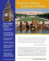 CASTLES & KINGS: LONDON TO PARIS - Tauck