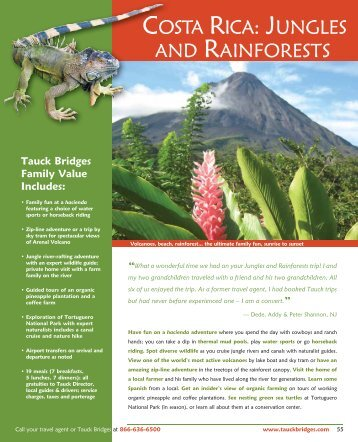 COSTA RICA: JUNGLES AND RAINFORESTS - Tauck
