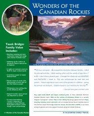 Wonders of the Canadian roCkies - Tauck
