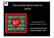 Myocardial dysfunction in sepsis