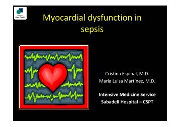 Myocardial dysfunction in sepsis