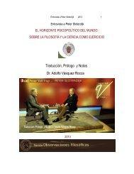 Entrevista a SLOTERDIJK: 'EL HORIZONTE PSICOPOLÍTICO DEL MUNDO'_ 2013 _ Traducción, Prologo y Notas _ Dr. Adolfo Vásquez Rocca -  Traducción, Prólogo y Notas Dr. Adolfo Vásquez Rocca Investigador