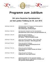 Programm zum Jubiläum Stand 2... - Taunus
