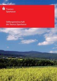 Broschüre Stiftergemeinschaft - Taunus Sparkasse