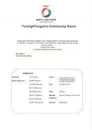 Turangi/Tongar¡ro Comm un ity Board - Taupo District Council