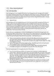7.0 RISK MANAGEMENT - Taupo District Council