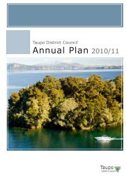 Annual Plan 2010/11 - Taupo District Council