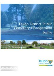 Cemetery Management Policy - Taupo District Council