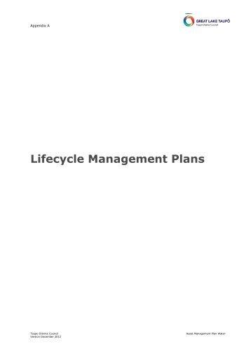 Lifecycle Management Plans - Taupo District Council