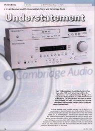Cambridge Audio Azur 640R & DVD99 HiFi Test 04/2008