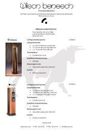Preisliste 08/2012 - taurus high-end gmbh