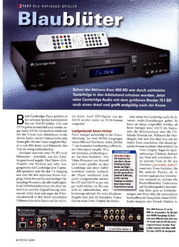 Cambridge Audio Azur 751BD Stereo 10/2011