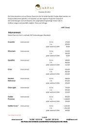 Cardas Audio Preisliste 05/2013