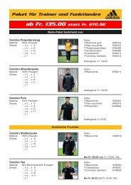 Paket für Trainer und Funktionäre - TAURUS SPORTS Kloten