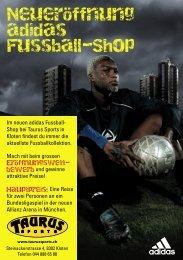 Neueröffnung adidas Fussball-Shop - TAURUS SPORTS Kloten