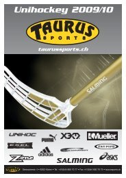 Unihockey 2009/10 - TAURUS SPORTS Kloten