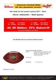 Ab 30 Bällen: 35% Rabatt!!! - TAURUS SPORTS Kloten