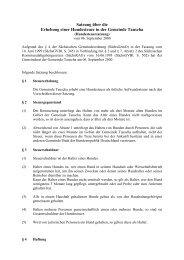 Satzung über die Erhebung einer Hundesteuer in der Gemeinde ...
