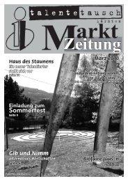 Marktzeitung von März 2010 - Talente Tauschkreis Kärnten