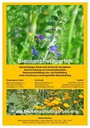 Info Bienenschutzgarten