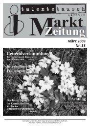 Marktzeitung von März 2009 - Talente Tauschkreis Kärnten