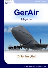 1 German Airways VA Magazin Ausgabe 60 – Juli 2007
