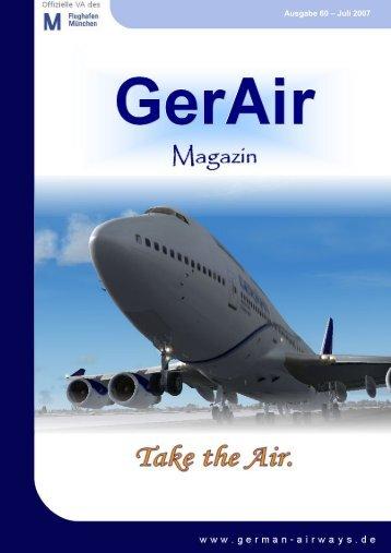 1 German Airways VA Magazin Ausgabe 60 – Juli 2007