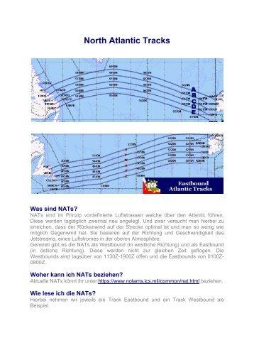 North Atlantic Tracks - German Airways