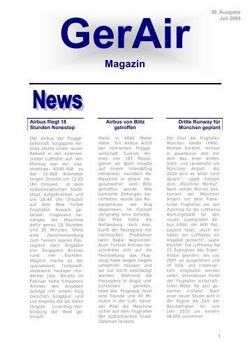 GerAir-Magazin Juli v6 - German Airways