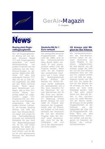 GerAir-Magazin - German Airways
