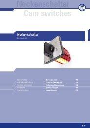 Nockenschalter Cam switches - ELEKTRA Tailfingen