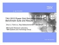 TAU 2012 Power Grid Simulation Contest: Benchmark Suite and ...