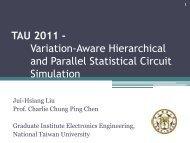 slide - ACM/IEEE International Workshop on Timing Issues 2006