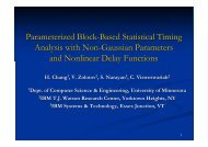 Parameterized Block-Based Statistical Timing Analysis with Non ...