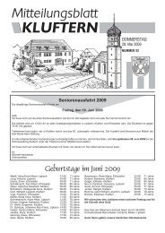 Geburtstage im Juni 2009