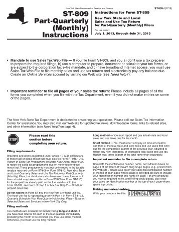 Tp 650 I Instructions For Form Tp 650 The New York State
