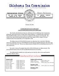 October 2011 - Oklahoma Tax Commission - State of Oklahoma