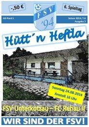 Hütt´n Heftla 2014/2015 Ausgabe 3