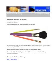 Professional Make-Up Pinsel in Neonfarben - Kundenbrief 08/2014