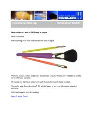 Professional Make-Up Brushes in Neon Colours - Newsletter 08/2014