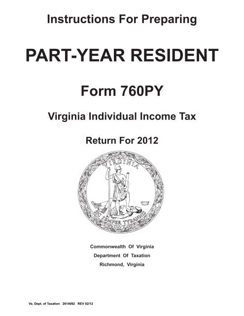 Fillable online va income tax form 760 instructions fax email.