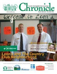 Leon's and The Country Club Neighborhood - Ccnalinc.org