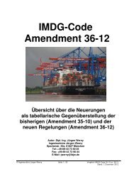 IMDG-Code Amendment 36-12 - Gefahr/gut