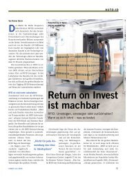 Return on Invest ist machbar - Taxi