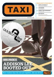 BOOTED OUT ADDISON LEE - TAXI Newspaper