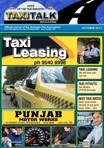 October 2012 - Taxi Talk Magazine