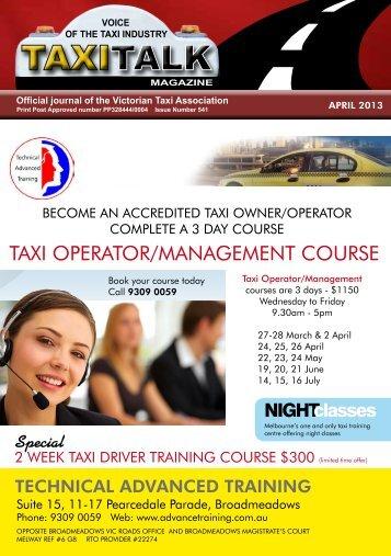 April 2013 - Taxi Talk Magazine