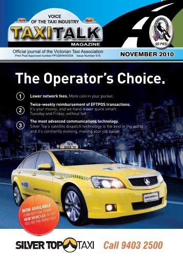 NOVEMBER 2010 - Taxi Talk Magazine