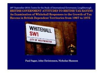 British Government Attitudes to British Tax Havens - Tax Justice ...